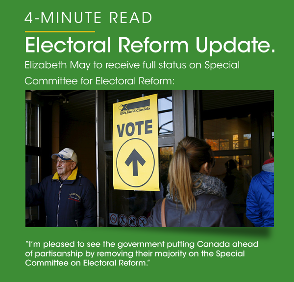 4-minute read - Electoral Reform Update