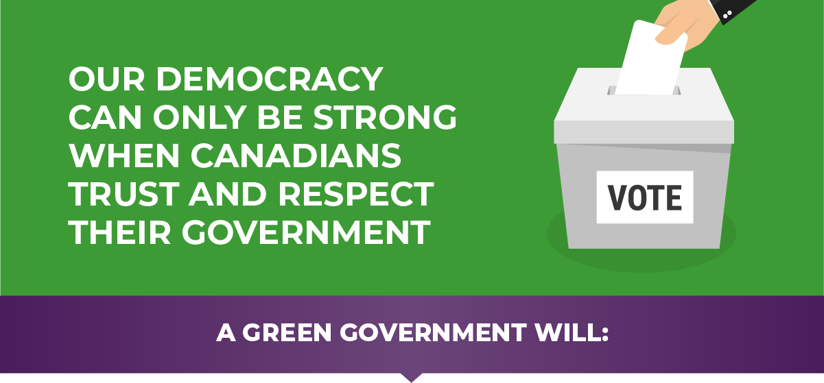 Our democracy can only be strong when Canadians trust and respect their government.