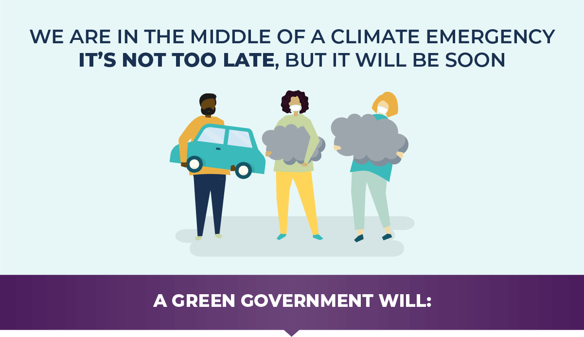 We are in the middle of a climate emergency. It's not too late, but it will be soon.