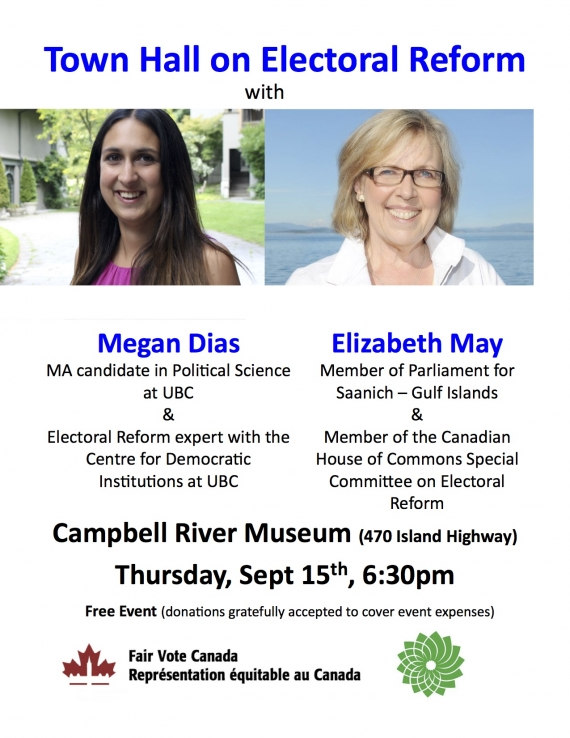 Electoral Reform Town Hall Sept 15 Campbell River