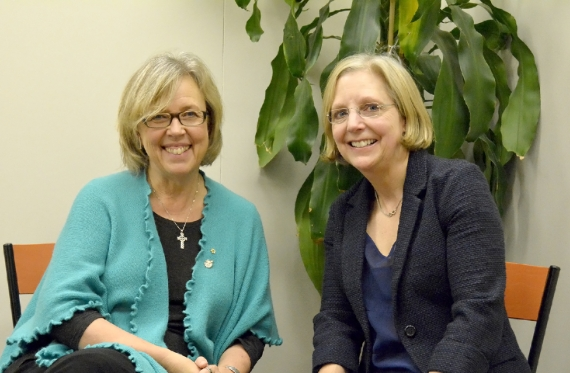 Elizabeth May and Deborah Coyne